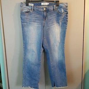 Torrid Boyfriend Jeans Frayed hemline